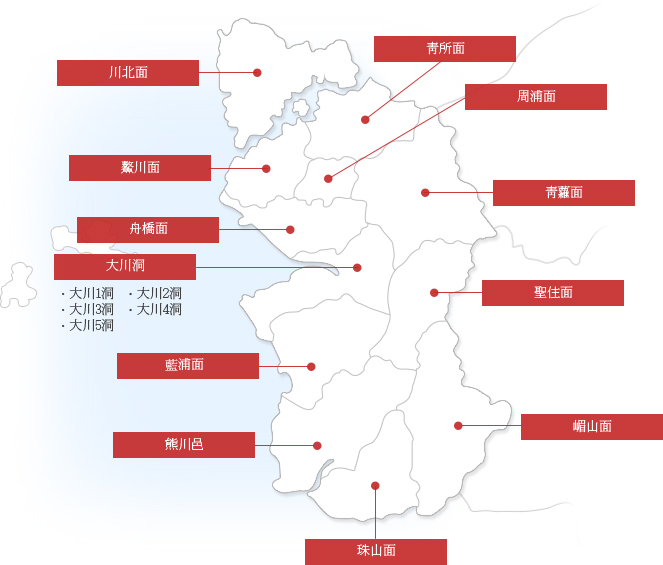 Boryeong City Public Administration Map